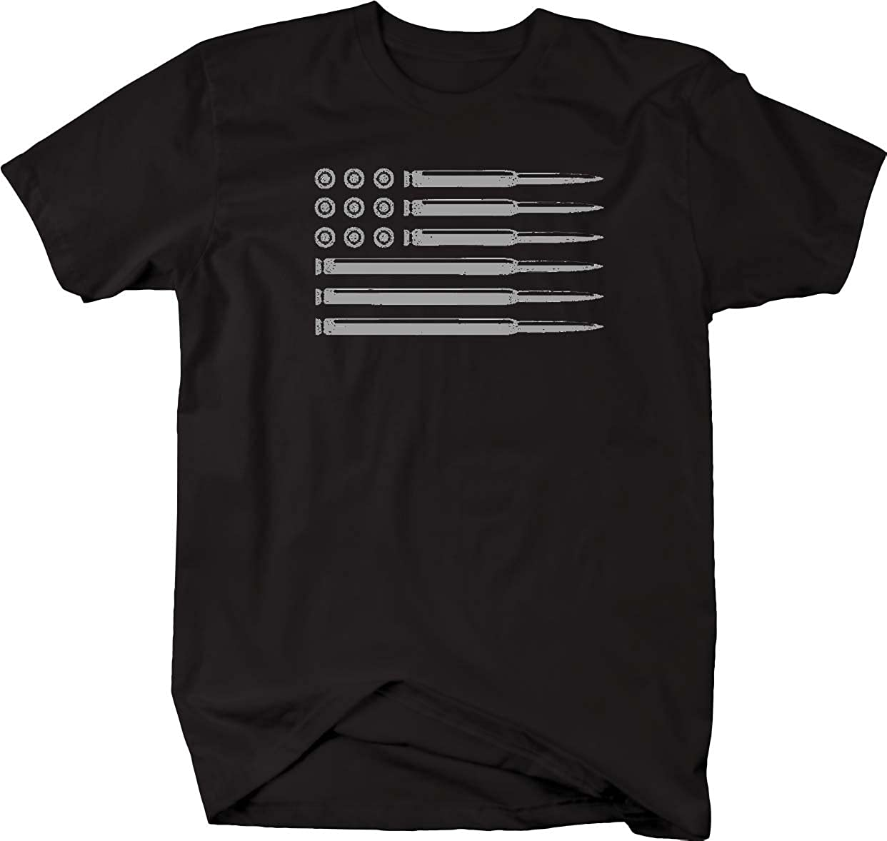 AR15 556 Rifle Bullets American Flag Gun Rights Military Mens T Shirt-PL