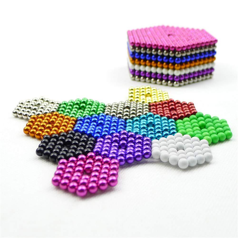 HBDeskToys 8 Colors 5mm 512 Pieces Large Magnetic Balls Building Blocks Sculpture Magnets Educational Game Office Magnet Toy Intelligence Development Imagination Gift Family