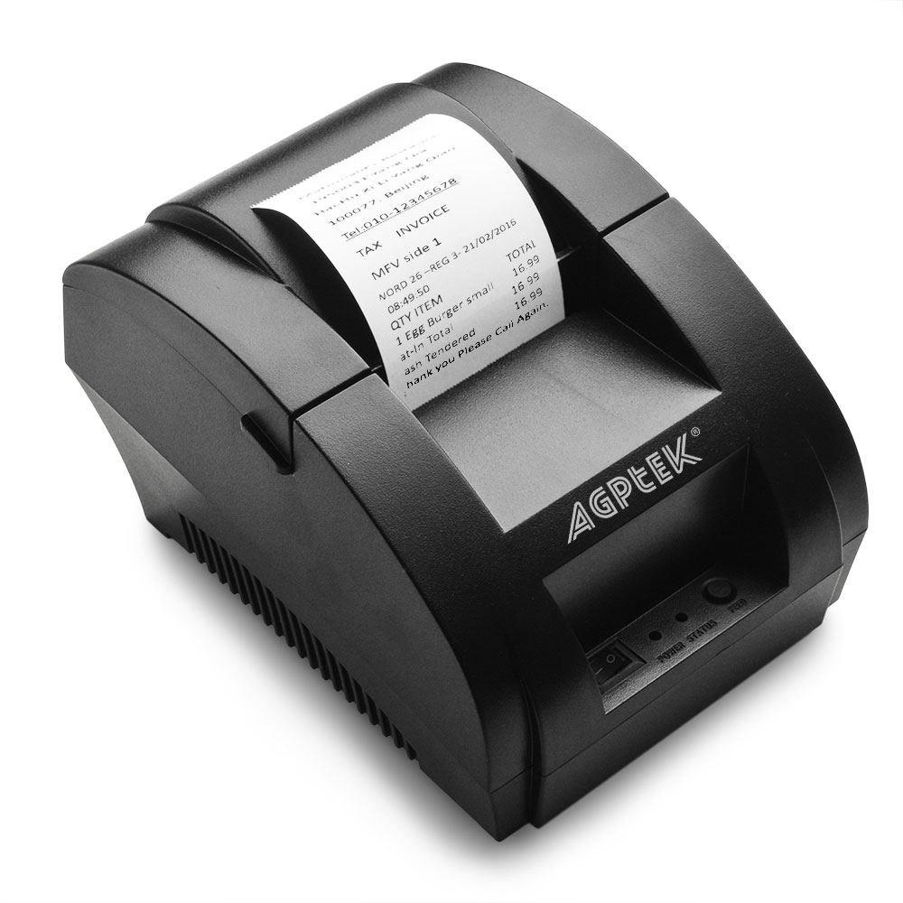 Thermal Printer, USB 58mm POS Thermal Receipt Printer 90mm/sec High-speed  Printing with ESC / POS Printing Instruction Set Brand: AGPtek