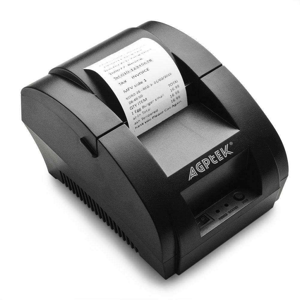 Thermal Printer, USB 58mm POS Thermal Receipt Printer 90mm/sec High-speed Printing with ESC / POS Printing Instruction Set Brand: AGPtek by AGPTEK