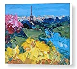 Romantic Paris Prints Eiffel Tower Canvas Wall Art France Abstract Cityscape Home Decor Living Room Office Decoration Christmas Gifts Men Women Parents Couples Present from Painting Agostino Veroni