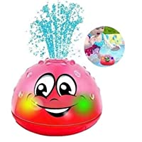 S-Chihir Sprinkler Ball Toy Kids Bath Toys, 2 in 1 Squirt Spray Water Toy LED Light Up Float Toys & Lamp Bath Spray Toy…