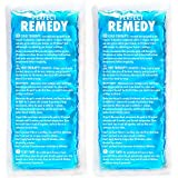 Gel Ice Packs for Injuries (2 Pack) – Soft Reusable Cold/Hot Compress for Injury, Pain Relief, Rehabilitation, Flexible Therapy for Knee, Shoulder, Back, Neck, Ankle