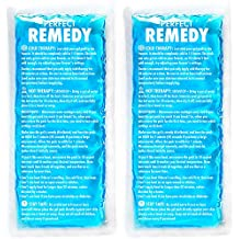 Ice Packs for Injuries - 2 Flexible & Reusable Hot / Cold Compress Gel Pack for Therapy