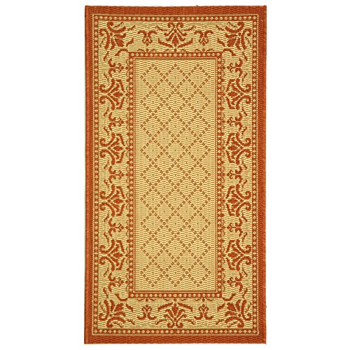Safavieh Courtyard Collection CY0901-3201 Natural and Terra Indoor/Outdoor Area Rug (2'7