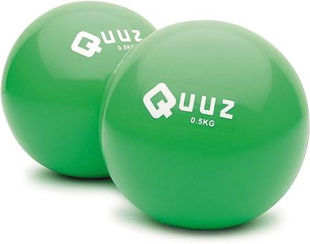 Quuz - Pelotas de pilates Talla:2 x 0.5 kg: Amazon.es: Deportes y ...
