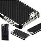 Mobile Case Mate iPhone 5 5s Fibre de carbone et Metalic Effet clip on Dur Coque couverture case cover Pare-chocs