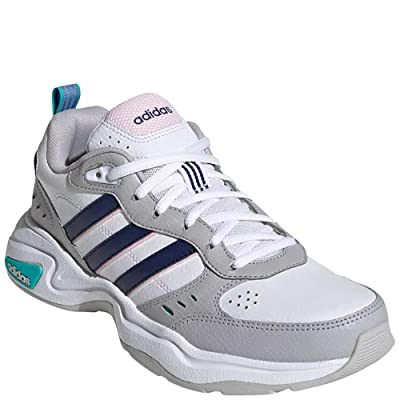 adidas Women's Strutter Fashion Sneakers Cloud White/Dark Blue/Clear Pink 7.5 | Fashion Sneakers