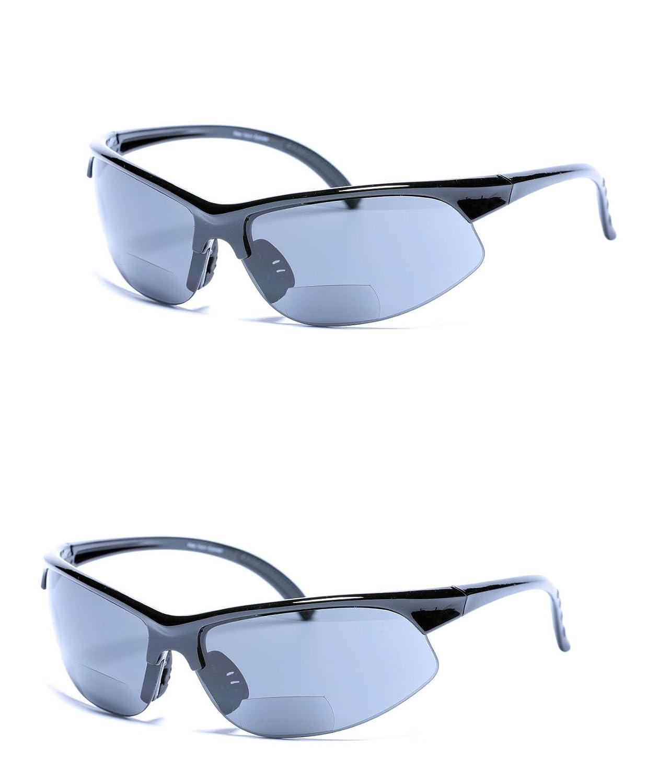 2 paires de Unisexe à double foyer Sport Wrap Lunettes de soleil en plein  air Lunettes bbf83c611568
