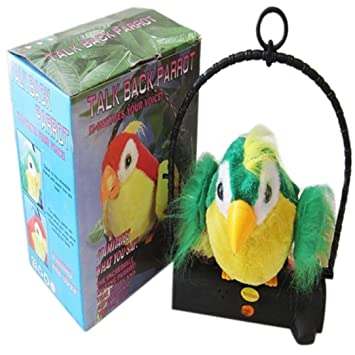 Waving Wings Talking Talk Parrot Imitates   Repeats What You Say Gift Funny  Toy 7b69e95a66