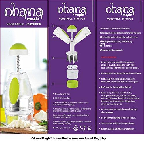 Ohana Magic Onion Chopper Vegetable Food Garlic Fruit