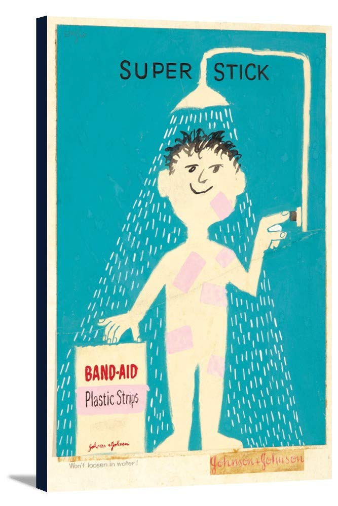 Band - Aidビンテージポスター(アーティスト: Savignac、Raymond ) C。1956 12 x 18 Gallery Canvas LANT-3P-SC-65635-12x18 12 x 18 Gallery Canvas  B0181VV68Y