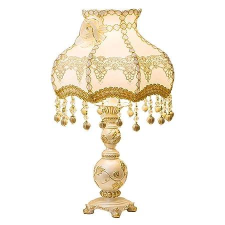NewbieBoom Lámpara de Mesa Vintage de Estilo Europeo Dormitorio ...