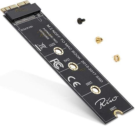 Rivo NGFF M.2 nVME - Tarjeta Adaptador SSD para Mac de 2013 a 2015 ...