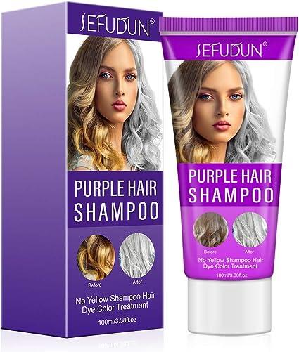 J TOHLO Purple Shampoo Blonde Shampoo Puede Eliminar el Tono ...