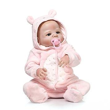 Amazon.es: ZIYIUI 45 cm Realista Muñecos Bebé Silicona Completa ...