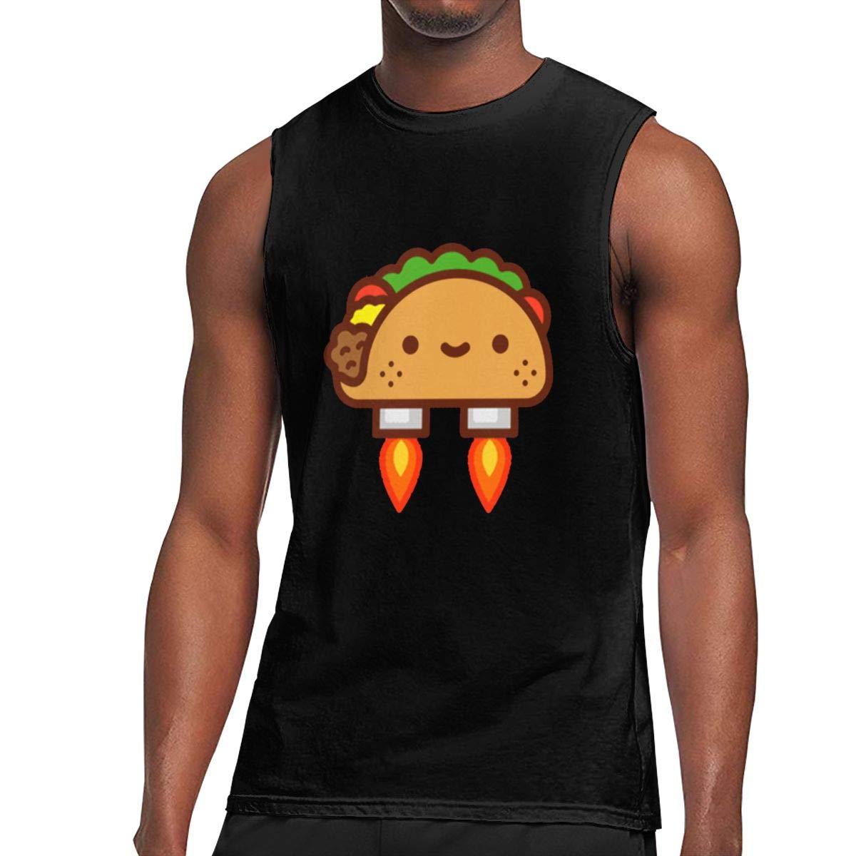 Seuriamin Tacos Rocket Humor Jogging Sleeveless Muscle Short Sleeve T Shirts
