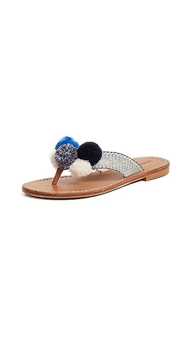 670717f891d Soludos Women s Capri Pom Pom Flip Flops
