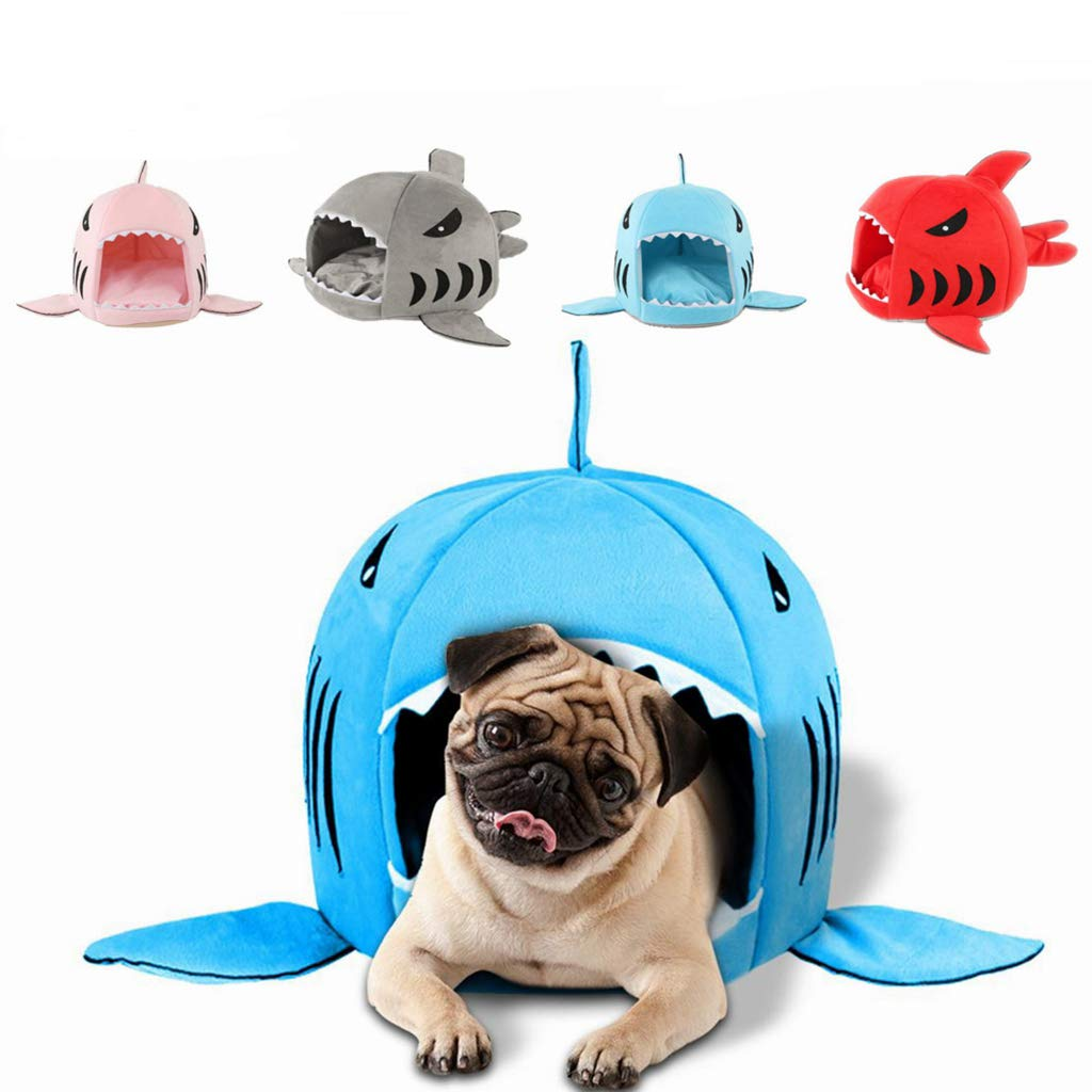 Amazon.com : SANOMY Dog Beds Mats Pet Products Warm Soft Dog House Pet Sleeping Bag Shark Dog Kennel Cat Bed Cat House Cama Perro Kennels Pens : Pet ...