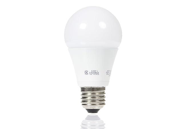 LEDs Change the World - Bombilla led (casquillo E27, ángulo de luz ancho 806