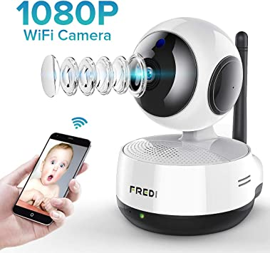 not Include Jinbaixun Technology 858473 FREDI Wireless Baby Monitor Security IP Home 720p WiFi Camera with Two-Way Function,Infrared Night Vision,Pan Tilt,P2P WPS Ir-Cut Nanny IP Camera Motion Detection Support 128GB sd Card