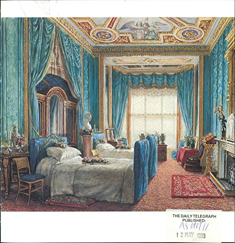 Vintage photo of Works by William Corden: The Bedroom Prepared for the Empress Eugenie.