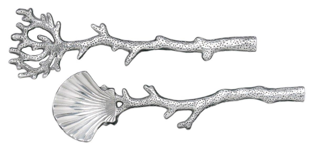 Christmas Tablescape Décor - Seashell coral branch serving set by Arthur Court Designs