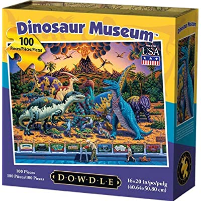 Dowdle Jigsaw Puzzle - Dinosaur Museum - 100 Piece: Toys & Games
