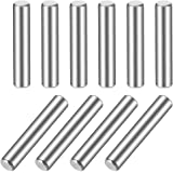 uxcell 10Pcs 5mm x 35mm Dowel Pin 304 Stainless Steel Wood Bunk Bed Dowel Pins Shelf Pegs Support Shelves Silver Tone