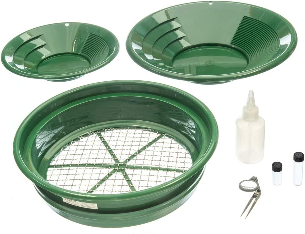 SE GP5-KIT107 Prospecting Mining Panning Kit Classifier and 2 Gold Pans (7 PC.)