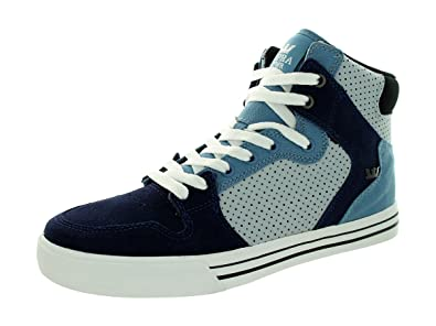 8077b2ae06f3 Image Unavailable. Image not available for. Color  Supra Vaider Men US 11  Blue Skate Shoe ...