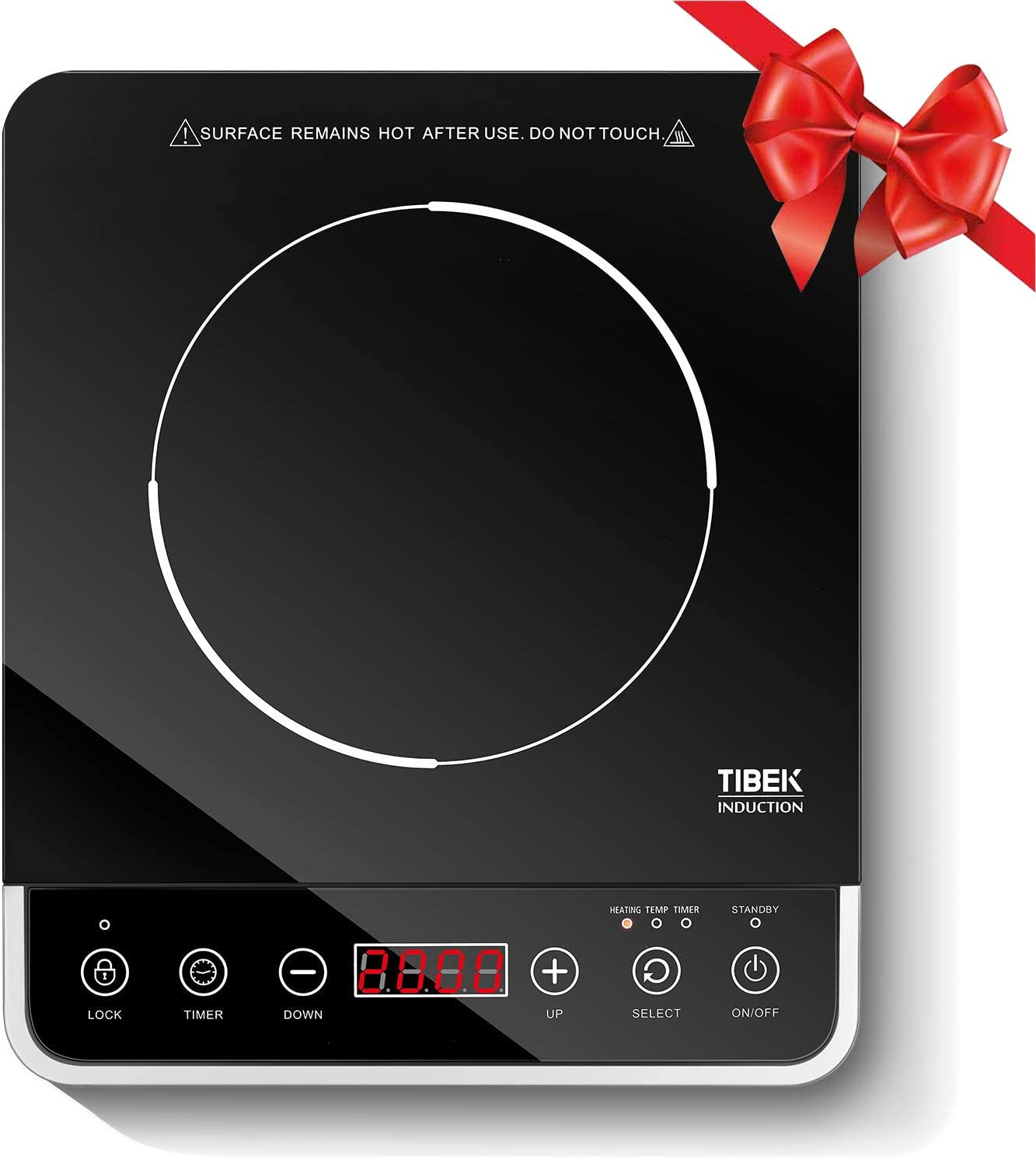 Portable Induction Cooktop, 1800W Countertop Burner Cooker with 10 Power Levels, 180 Minutes Timer, 3 Safety Lock, Wear Resistance (Security,ETL Approved)