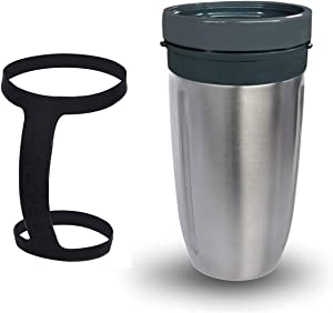 Salveo Replacement Cup for Nutribullet blender 600W 900W, Large Stainless Steel Insulated 28 Oz Double Wall - fits Nutri Bullet Replacement parts and will Hold your Drink cold or hot for UP to 8 HOURS