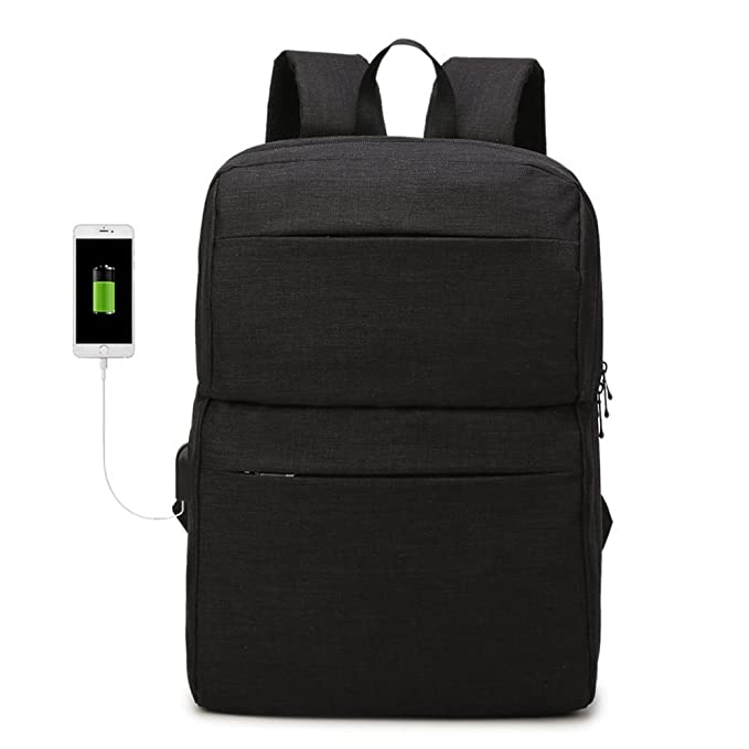 Slim Laptop Backpack with USB Charging Port