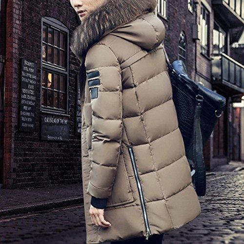 Hood Coat Jacket Zipper Winter Thicken Men's Parkas Quilted ZongSen Puffer with Khaki wIq8T8