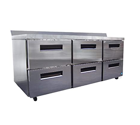 Captivating CRMR72 WD6 72u0026quot;u0026quot; Commercial Series Worktop Refrigerator With 6  Drawers 21.25 Cu