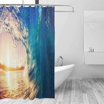 Children S Bathroom Shower Curtains.Amazon Com Doneeckl Children S Bathroom Shower Curtain