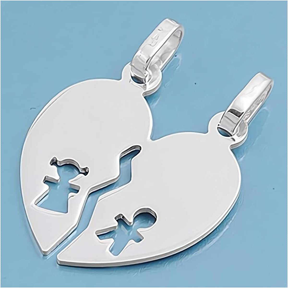 Cute Gift for Women Glitzs Jewels 925 Sterling Silver Pendant for Necklace Heart