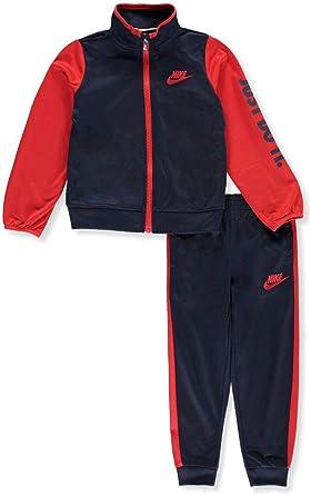 755305-023 Black Nike Boy`s Two Piece Tracksuit Jacket /& Pants Set //Red, 7