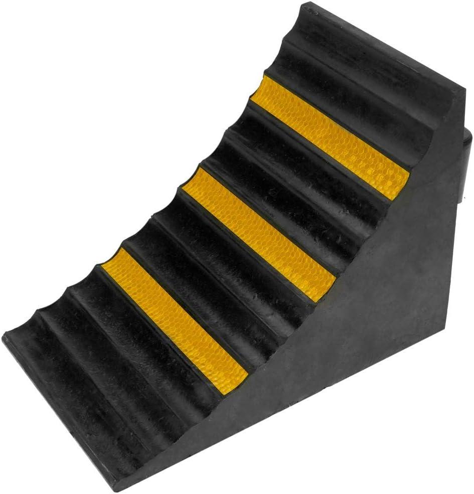 PrimeMatik - Calzo de goma para coches y camiones. Cuña de ruedas para autocaravanas