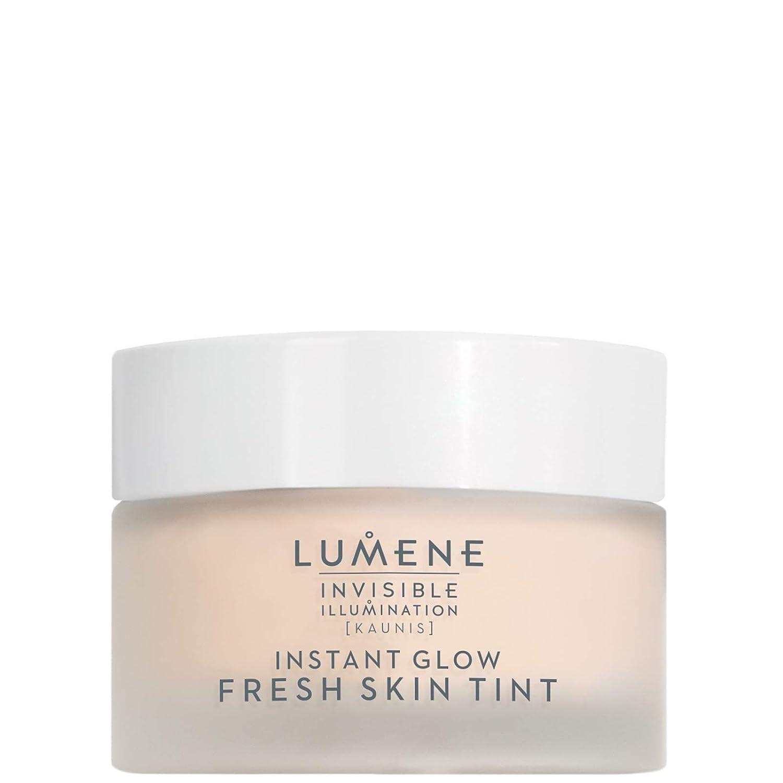 Lumene Invisible Illumination [Kaunis] Instant Glow Fresh Skin Tint, Universal Medium, 1.0 Fl.oz, Tinted Moisturizer, Fresh Gel Texture