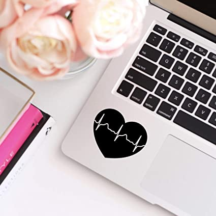 Amazon com: CELYCASY Heartbeat Decal, Heart Decal, EKG line