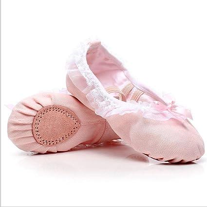 Sunbobo Zapatillas de Ballet para niñas pequeñas Zapato de Baile Zapatillas de Ballet Rosa Zapatillas de