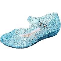 GenialES Prinsessa, gelé, party, klackskor, sandaler för barn, glans, jul, utklädsel, karneval, halloween, fest