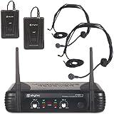 Skytec STWM712H Dual Channel VHF Wireless Headset Microphone Set