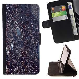 - Dark Black Granite Imitation - Estilo PU billetera de cuero del soporte del tir???¡¯????n [solapa de cierre] Cubierta- For Sony Xperia Z2 D6502 £š Devil Case £©