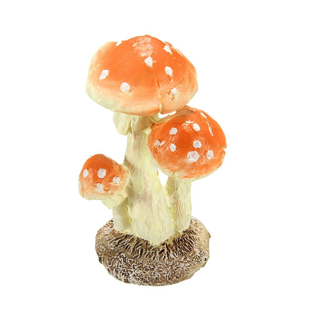 3pcs champignon champignon Miniature jardin Figurine Decor Longueur 3 * Largeur 2.6 * Hauteur 5cm Omkuwl