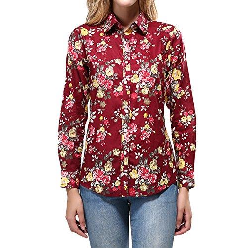 Rose Button Up Shirt - 5