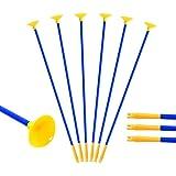 bogen und pfeile Kinderpfeile Ersatzpfeile 10 Stück Pfeil mit Saugnapf 60cm für Pfeil und Bogen ihr kleiner Bogenschütze im Freien Garten Spiel