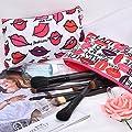 Waterproof Makeup Bags For Women Lips Printing Girls Travel Cute Small Cosmetic Bag (2pack)